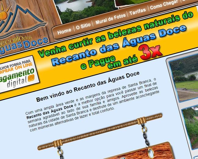 Site Recanto das Águas Doce