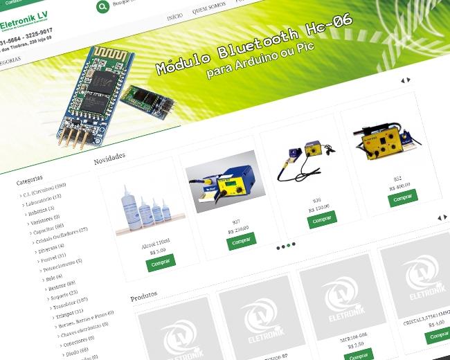 Loja Virtual Eletronik LV Destaque