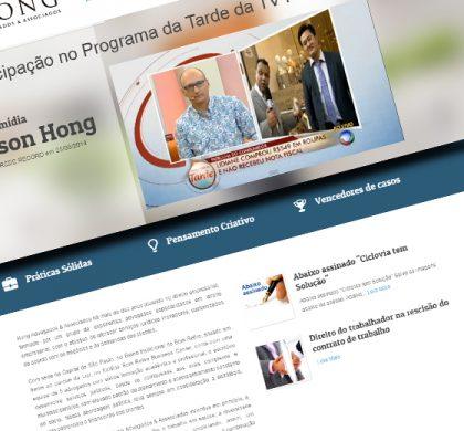 Site Hong Advogados Destaque