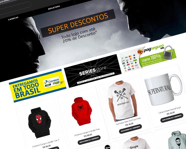 Loja Virtual Séries Store Destaque