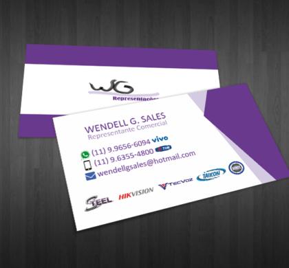 Cartão de Visita WG Representações