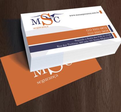Cartão de Visita MSC Segurança