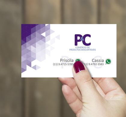 Cartão de Visita Comércio de Produtos Descartáveis