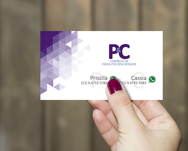 Cartão de Visita P&C Comércio de Produtos Descartáveis