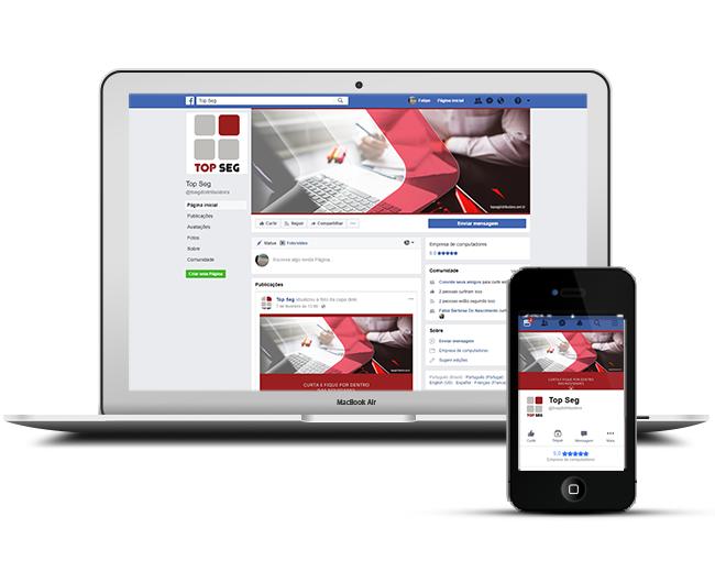 Capa para Facebook Segurança Eletrônica - Top Seg