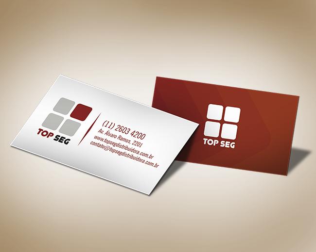 Cartão de Visita Segurança Eletrônica - Top Seg