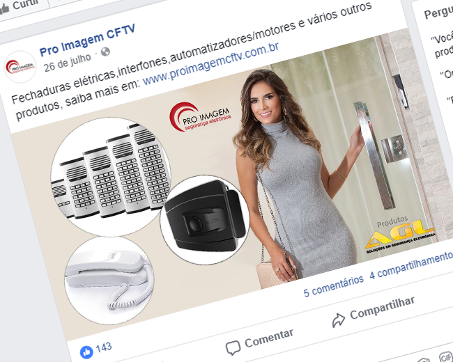 Banner Fechadura e produtos AGL - Pro Imagem CFTV