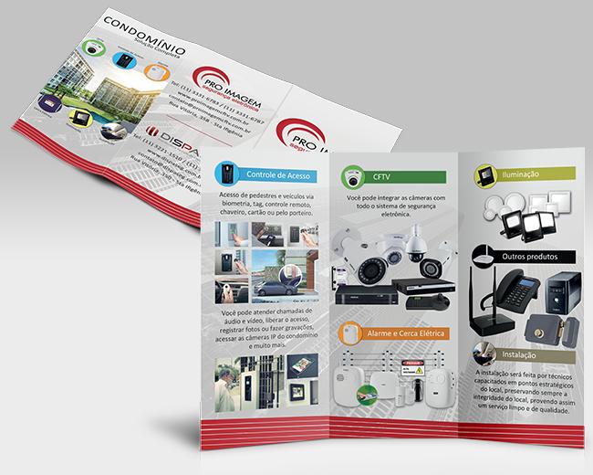 Folder 2 dobras Proteção Condominial - ProImagem CFTV - Destaque