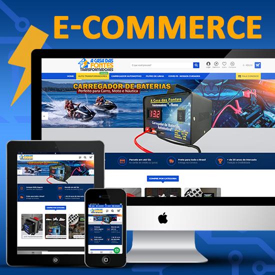 E-commerce para Fontes e Transformadores A Casa Das Fontes