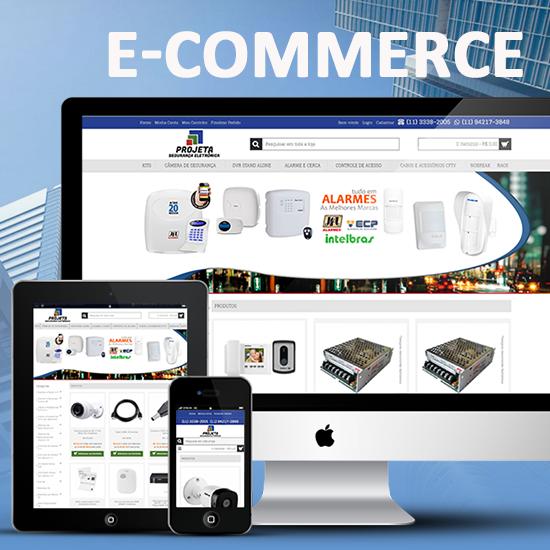 E-commerce de produtos de Segurança Eletrônica CFTV da Projeta Seg