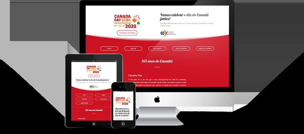Site para o evento Canada Day CCBC online festival