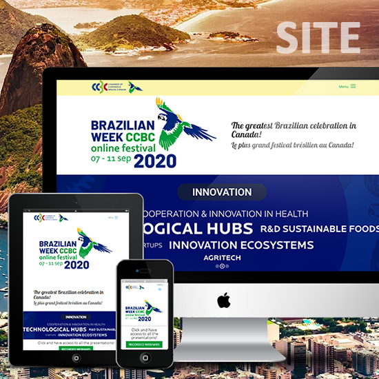 Site para o evento Brazilian Week CCBC online festival